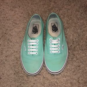 Mint colored Vans